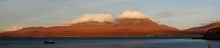 Paps of Jura seen from Bunnahabhain Panorama Picture