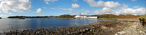 Lagavulin Bay and Lagavulin Distillery Panorama Picture