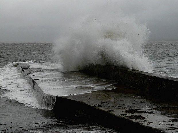 Waves At Port Charlotte Pier