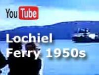 Somewhere in the mid 1950s, the times when this video was shot, some of the ferries were side loading, meaning the cars had to be lifted on board by cranes. This video here shows the Lochiel and this was one of many ferries with this name