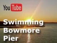 Yes you can swim in Loch Indaal and jump from Bowmore Pier. Listen carefully, I think its very cold :-)